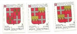 1983 - Sovrano Militare Ordine Di Malta 219/21 Stemmi - Stamps