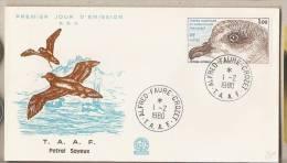 TAAF - Busta Fdc: Petrel Soyex - Uccelli - 1980 - FDC