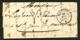 SAVOIE: Pli De MOUTIERS De 1849 En Port Du Avec CàD MOUTIER  *   > St JEAN DE MAURIENNE - 1801-1848: Precursors XIX