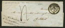 SAVOIE: Pli De RUMILLY De 1850 En Port Du Avec CàD RUMILLY * > CHATELARD - 1801-1848: Precursors XIX