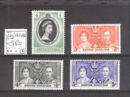 Honduras( Col. G-B) :  N° 111/13 + 146 *    Cote Yvert(2000) : 3,60 €.Trace De Charnière Très Légère. - Honduras