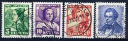 SWITZERLAND 1935 Pro Juventute Set Used.  Michel 287-90 - Pro Juventute