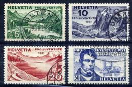 SWITZERLAND 1931 Pro Juventute Set Used.  Michel 246-49 - Pro Juventute
