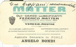 MATTER, VENEZIA-MESTRE, CARTOLINA PRESENTAZIONE  AZIENDA PRODOTTI, - Pubblicitari