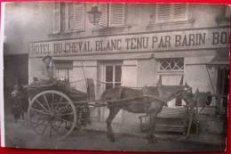 86 - Carte Photo - SANXAY - Hotel Du Cheval Blanc - BARIN - Cafe -  Devanture - Restaurant - France