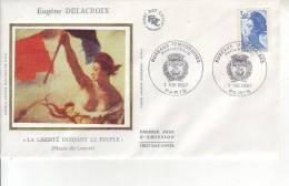FRANCE Enveloppe Premier Jour FDC  1987 LA LIBERTE DELACROIX 3.60f - FDC