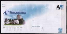 Russia 2012 Postal Stationery Cover 45 Ans Systems Spatiaux De Telecommunication Telecom Espace Space - Telecom