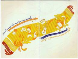 Lote PEP298, Colombia, Dia Mundial Del Correo, Abrazo,  Postal, 2 Postcards, Unusual Stamp No Commercial Value - Colombia