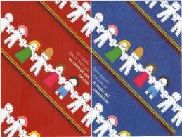Lote PEP300, Colombia, Dia Mundial Del Correo, Un Saludo,  Postal, 2 Postcards, Unusual Stamp No Commercial Value - Colombia