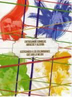 Lote PEP299, Colombia, Dia Mundial Del Correo, Sonrisas,  Postal, 2 Postcards, Unusual Stamp No Commercial Value - Colombia