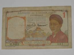 1 ( Une ) Piastre  - Banque De L'Indochine (1953) - Indochina
