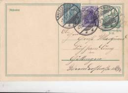 INFLA Postkarte P 143 A Mit DR 149 A I + 160 MiF, Stempel: Walkenried 7.3.1922 - Geprüft - - Deutschland