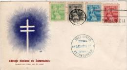 Lote SC133, Cuba, 1957, Sobre, Cover, FDC, Consejo Nacional De Tuberculosis - Otros