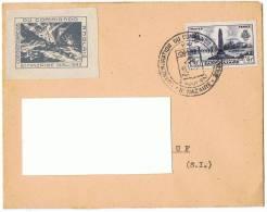 2/8/1942 - Enveloppe Lettre  -  Commémoration Du Commando Anglais - Saint-Nazaire + Vignette + Yvert Et Tellier N° 786 - Cachets Commémoratifs