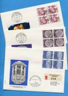 Suisse, Switzerland, Schweiz, Svizzera, FDC, 1978, Dauermarken, Papieränderung,  3 Briefe - FDC