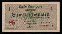 Stuttgart 1 RM 1945, Reihe 2, Leicht Gebraucht, RRR, Nr. 354884 - [ 5] 1945-1949 : Allies Occupation