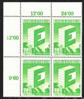 Austria 637 X 4  **  UNITED  EUROPA - Blocks & Sheetlets & Panes