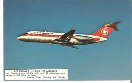 Air Canada  -  DC-( Jet Aircraft)  Carry 72 Passengers And Cruise At 555 Miles An Hour  Label On Front - 1946-....: Modern Era