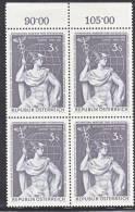 Austria 667  X 4  **  BANKING - Blocks & Sheetlets & Panes