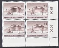 Austria 675  X 4  ** - Blocks & Sheetlets & Panes