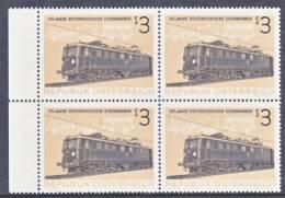 Austria 703  X 4  **  TRAIN - Blocks & Sheetlets & Panes
