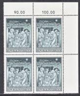 Austria 718  X 4  **  CHRISTMAS - Blocks & Sheetlets & Panes