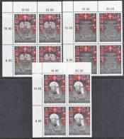 Austria 820-2  X 4  **  ARMS - Blocks & Sheetlets & Panes