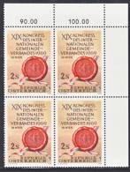 Austria 842  X 4  **  KONGRESS - Blocks & Sheetlets & Panes
