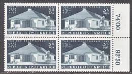 Austria B 303  X 4    **  STAMP DAY - Blocks & Sheetlets & Panes