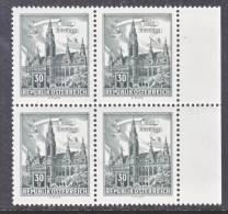 Austria 688 X 4     ** - 1961-70 Unused Stamps