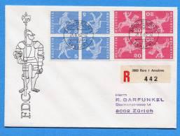 Suisse, Switzerland, Schweiz, FDC ,1966, Kehrdrucke - FDC