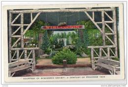 1933 Chicago Worlds Fair Exposition Wisconsin Exhibit Century Of Progress, Illinois, 30-40s - Chicago