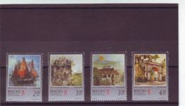 Macau 1997 Portugal Colony Visit Por Kwok SE Architecture Paintings Art Sailing Boat Ship Geography Places Stamps MNH - 1999-... Chinese Admnistrative Region