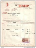 ALLIER - MONTLUCON - SOCIETE ANONYME DES PNEUMATIQUES DUNLOP - AUTOMOBILE - AVOIR - 1929 - Cars