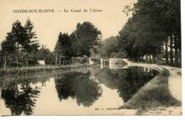 CONDE SUR MARNE - Le Canal De L'aisne - Non Circulé - France