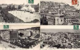 Lot De 4 Cpa Alger : La Casbah + Vue Générale + Place Du Gouvernement + Boulevard Laferrière Grand Hôtel Excelsior - Algerien