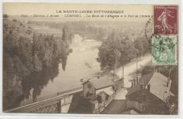 LEMPDES (HAUTE LOIRE - 43) - CPA - ENVIRONS D´ ARVANT - LES BORDS DE L´ ALLAGNON ET LE PONT DU CHEMIN DE FER - France