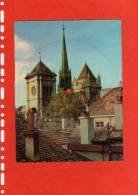 Carte Postale -Disque LA CATHEDRALE SAINT PIERRE   GENEVE (SUISSE)(Vinyle 45 Tours) - Audiomaster S A MARTEREY - Religion & Gospel