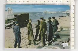 PO5548B# GUERRA - MILITARE - SBARCO IN NORMANDIA 14 GIUGNO 1944 - GENERAL DE GAULLE  No VG - Manovre