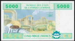 C.A.S. CHAD P609C 5000 FRANCS 2002 Signature 19 LETTER C    UNC. - Chad