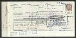 ESPAÑA - LETRA DE CAMBIO , BANCO DE BILBAO 3 DE ABRIL  1.977 (S.G.F.) - Letras De Cambio