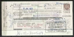 ESPAÑA - LETRA DE CAMBIO , BANCO DE BILBAO  16 JULIO   1.977 (S.G.F) - Letras De Cambio