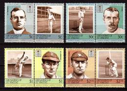 ST VINCENT GRENADINES  N° 363/70  ( Cote 6.50e )      **   Cricket - Cricket