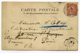 CPA De SAINT PIERRE DE MARTINIQUE Avec TP SAGE Et Oblitération FORT DE FRANCE / 22 Aout 1903