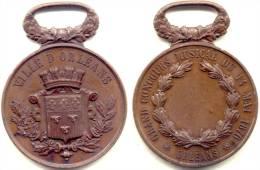 ORLEANS .  . CONCOURS MUSIQUES . 1876 . Grand Module . - Profesionales / De Sociedad