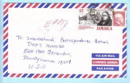 Jamaika Jamaica Jamaique Brief Cover Lettre 662 I  723 T. Coke Kirche - Bustamante Politiker  (22965) - Jamaica (1962-...)