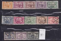 PORTUGAL N°96/108 5EME  CENTENAIRE DE LA NAISSANCE D'HENRI LE NAVIGATEUR OBL - 1892-1898 : D.Carlos I