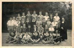 CARTE PHOTO GROUPE DE SCOUTS - Scoutisme