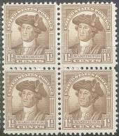Mi 336** WASHINGTON 4BL - Unused Stamps