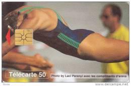 Monaco, MF39, 50 Units, Natation, Sport, 2 Scans. - Monaco